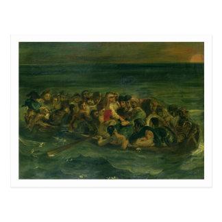 Carte Postale Croquis pour le naufrage de Don Juan, 1839 (voir