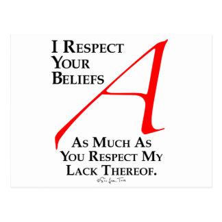 Carte Postale Croyances de respect