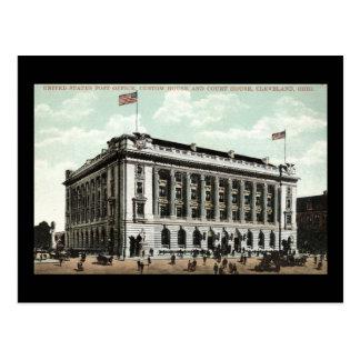 Carte Postale Cru 1910 de Cleveland Ohio de bureau de poste