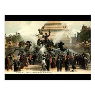 Carte Postale Cru 1915 de la France de Bordeaux de statue de