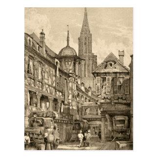 Carte Postale Cru 1915 de scène de rue de Samuel Prout
