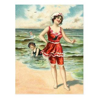 Carte Postale Cru baignant des beautés