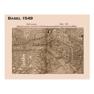 Carte Postale Cru, Bâle, Suisse, Suisse, 1549, carte,