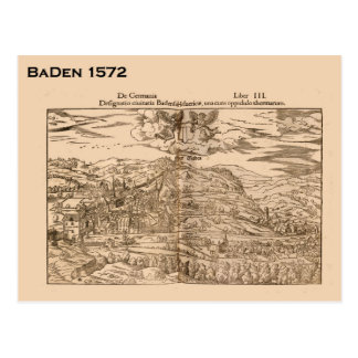 Carte Postale Cru, Bâle, Suisse, Suisse, 1572