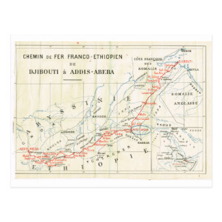 Carte Postale Cru, chemin de fer ? franco_Ethiopian