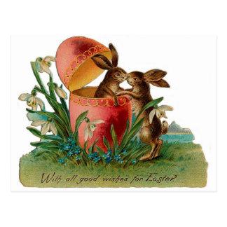Carte Postale Cru de baiser de lapin de Pâques