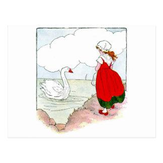 Carte Postale Cru de cygne la vraie oie de mère