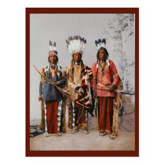 Carte Postale Cru de Garfield Ouche Te Foya de chefs d'Apache