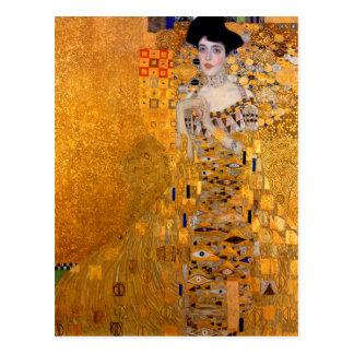"Carte Postale Cru de portrait de Gustav Klimt ""Adele"""