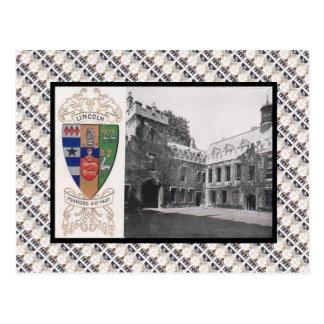 Carte Postale Cru de reproduction, université Oxford de Lincoln