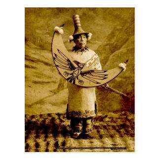 Carte Postale Cru de Skagway Alaska d'Indien de Tlingit