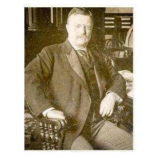 Carte Postale Cru de Teddy Roosevelt d'orignaux de Taureau