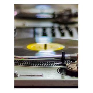 Carte Postale Cru de vinyle de plaque tournante rétro de bruit