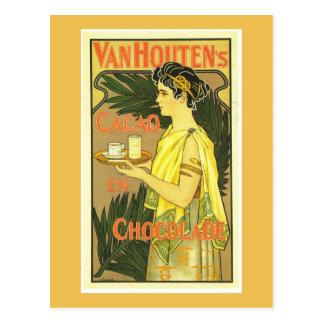 Carte Postale Cru d'en Chocolade de Cacao de Van Houten's
