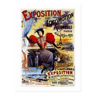 Carte Postale Cru d'Exposition de Locomotion 1895 - Paris -