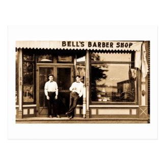 Carte Postale Cru du salon de coiffure de Bell americana
