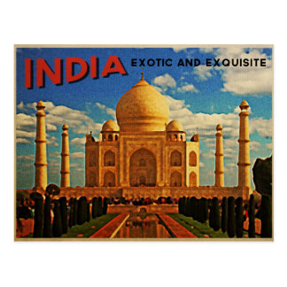 Carte Postale Cru du Taj Mahal Inde