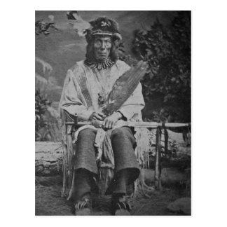 Carte Postale Cru en chef d'ours de médecine de Sioux