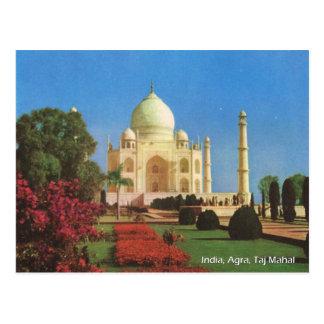 Carte Postale Cru, Inde, Âgrâ, le Taj Mahal
