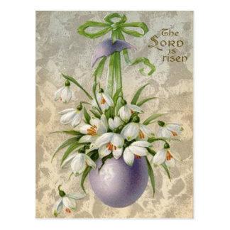 Carte Postale Cru la croix Pâques d'oeuf de seigneur Has Risen