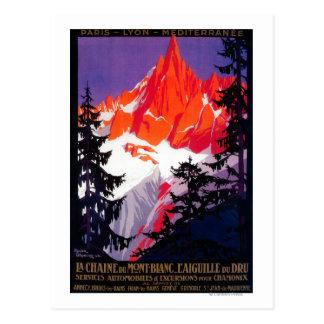 Carte Postale Cru PosterEurope de Chaine De Mont Blanc de La