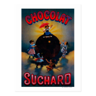 Carte Postale Cru PosterEurope de Chocolat Suchard