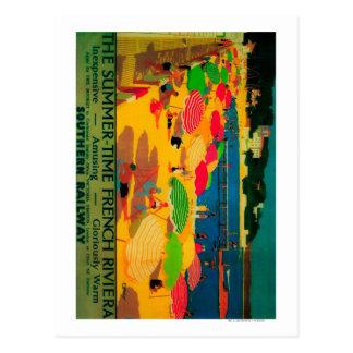 Carte Postale Cru PosterEurope de la Côte d'Azur d'été
