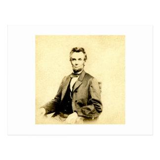 Carte Postale CRU RARE du Président Abraham Lincoln STEREOVIEW