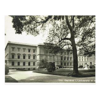 Carte Postale Cru, Suisse, Genève, université, les années 1930