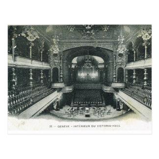 Carte Postale Cru, Suisse, Genève, Victoria Hall