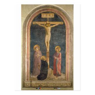 Carte Postale Crucifixion avec la Vierge, solides solubles. John
