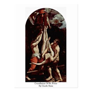 Carte Postale Crucifixion de St Peter par Guido Reni