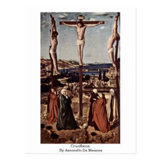 Carte Postale Crucifixion par Antonello DA Messine