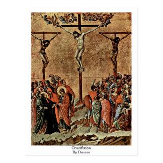 Carte Postale Crucifixion par Duccio