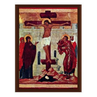 Carte Postale Crucifixion par Meister Der Schule Von Nowgorod
