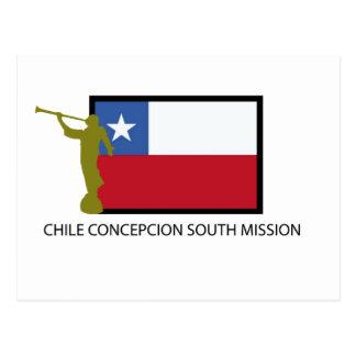 Carte Postale CTR du sud de la mission LDS du Chili Concepcion