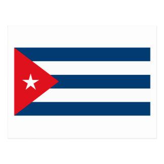 Carte postale cubaine de drapeau