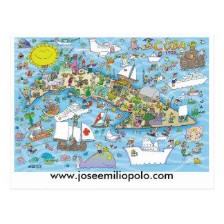 Carte postale cubaine, www.joseemiliopolo.com