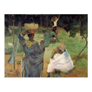 Carte Postale Cueillette de fruit - Paul Gauguin