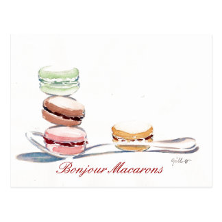 Carte Postale Cuillerée de Macarons