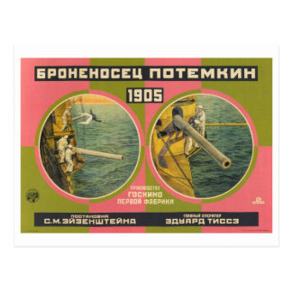 Carte Postale Cuirassé 1926 de Bronenosets Rodchenko Potemkin
