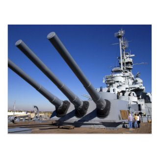 Carte Postale Cuirassé d'USS Alabama au mémorial 2 de cuirassé