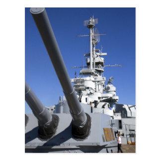 Carte Postale Cuirassé d'USS Alabama au mémorial de cuirassé