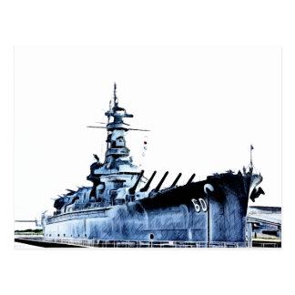 Carte Postale Cuirassé Memorial Park d'USS Alabama