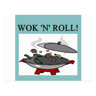 Carte Postale cuisine chinoise de wok
