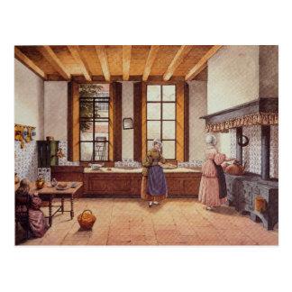 Carte Postale Cuisine de l'hôtel de Zwijnshoofd à Arnhem, 1838