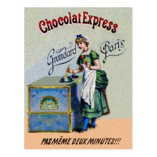 Carte Postale Cuisine vintage de la publicité de chocolat