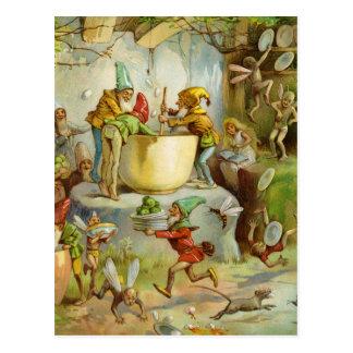 Carte Postale Cuisson dans la cuisine de gnome