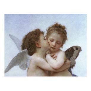 Carte Postale Cupidon et Psyché comme bébé