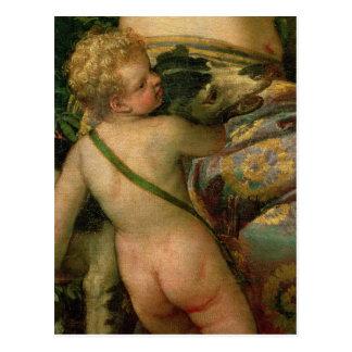 Carte Postale Cupidon, petit groupe de Vénus et Adonis, 1580